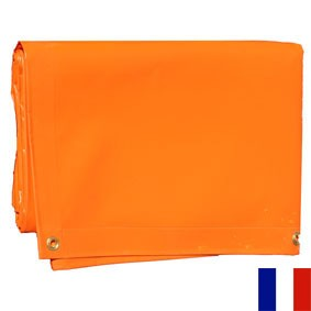 BACHE PVC 640 G ORANGE SUR MESURE
